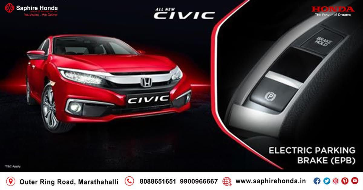 Live the feeling called EPIC when you drive the iconic Honda Civic with features like Lane Watch Camera, Electric Parking Brake & Electric Sunroof. #AllNewCivic #DriveEpic. Book a test drive today.  *T&C Apply.  Visit: www.saphirehonda.in or Call: 8088651651 #Hondacivic #HondaOffer #HondaCars