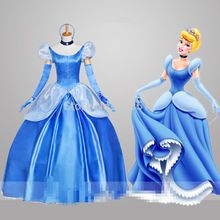 e19fd5ddd545ed New Custom Made Vestido de Cinderela Princesa Traje Vestido Adulto ...