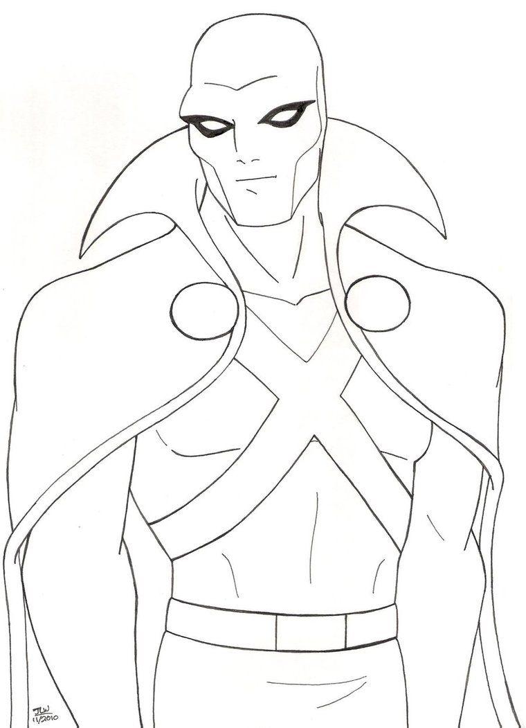 Pencil Drawing Of The Martian Manhunter In His Original Look