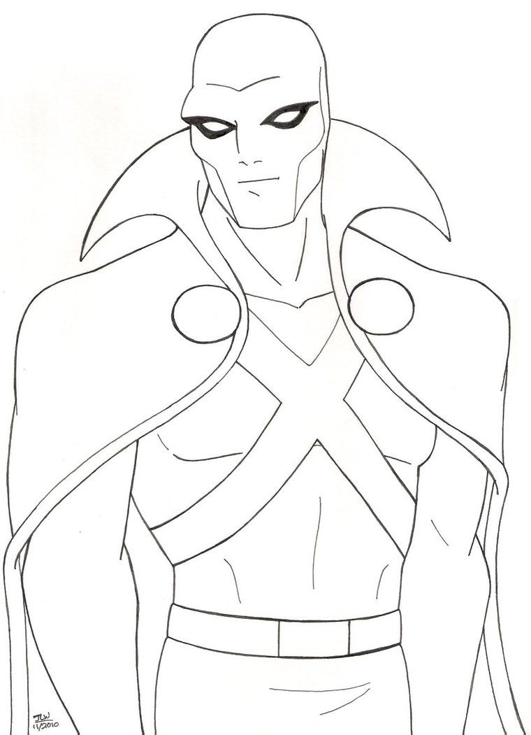 Pencil Drawing Of The Martian Manhunter In His Original Look