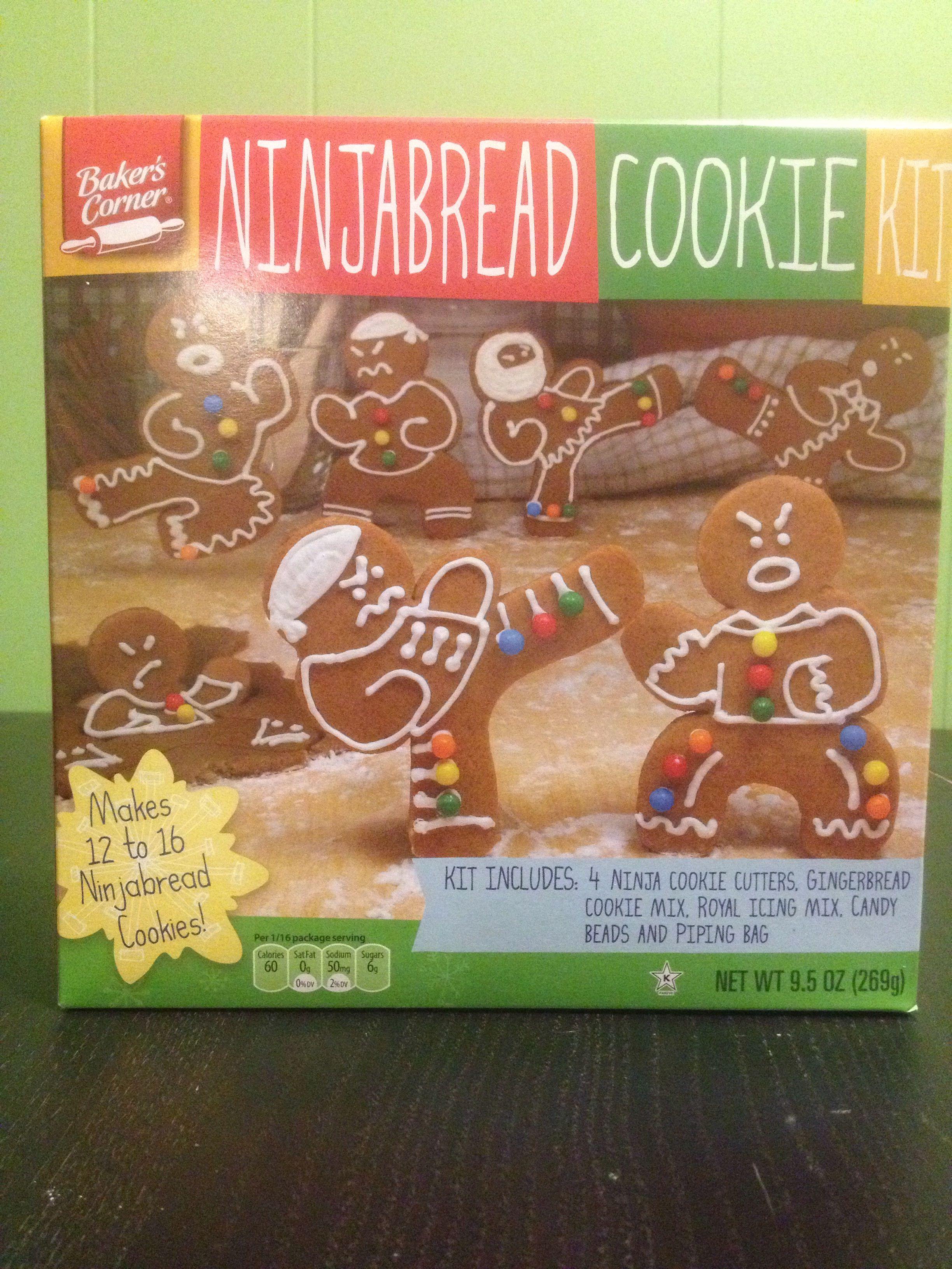 Ninjabread Cookie Kit At Aldi Christmas Cookies Gingerbread