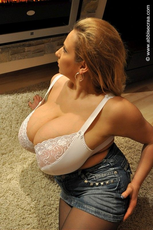 Sexy plus woman boobs