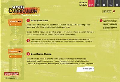 Modern-Day Slavery & Human Trafficking Curriculum Lesson Plan