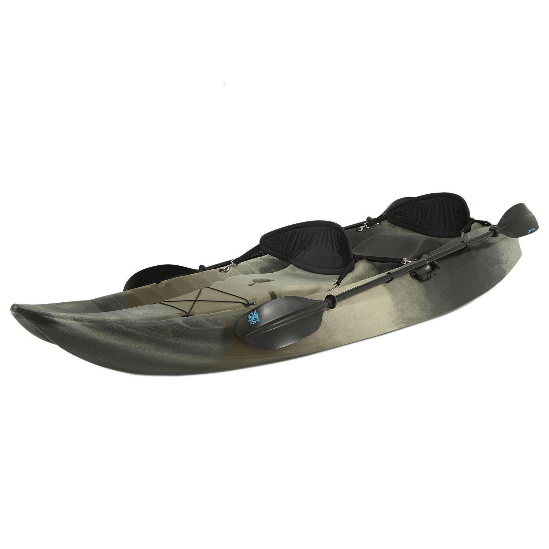 Tandem Fishing Kayak Adult 2 Person Seat w/ Paddles