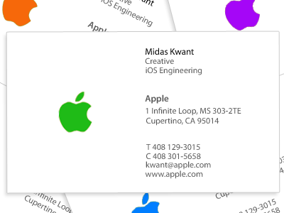 Apple Business Card Google Search Google Business Card Apple Business Cards