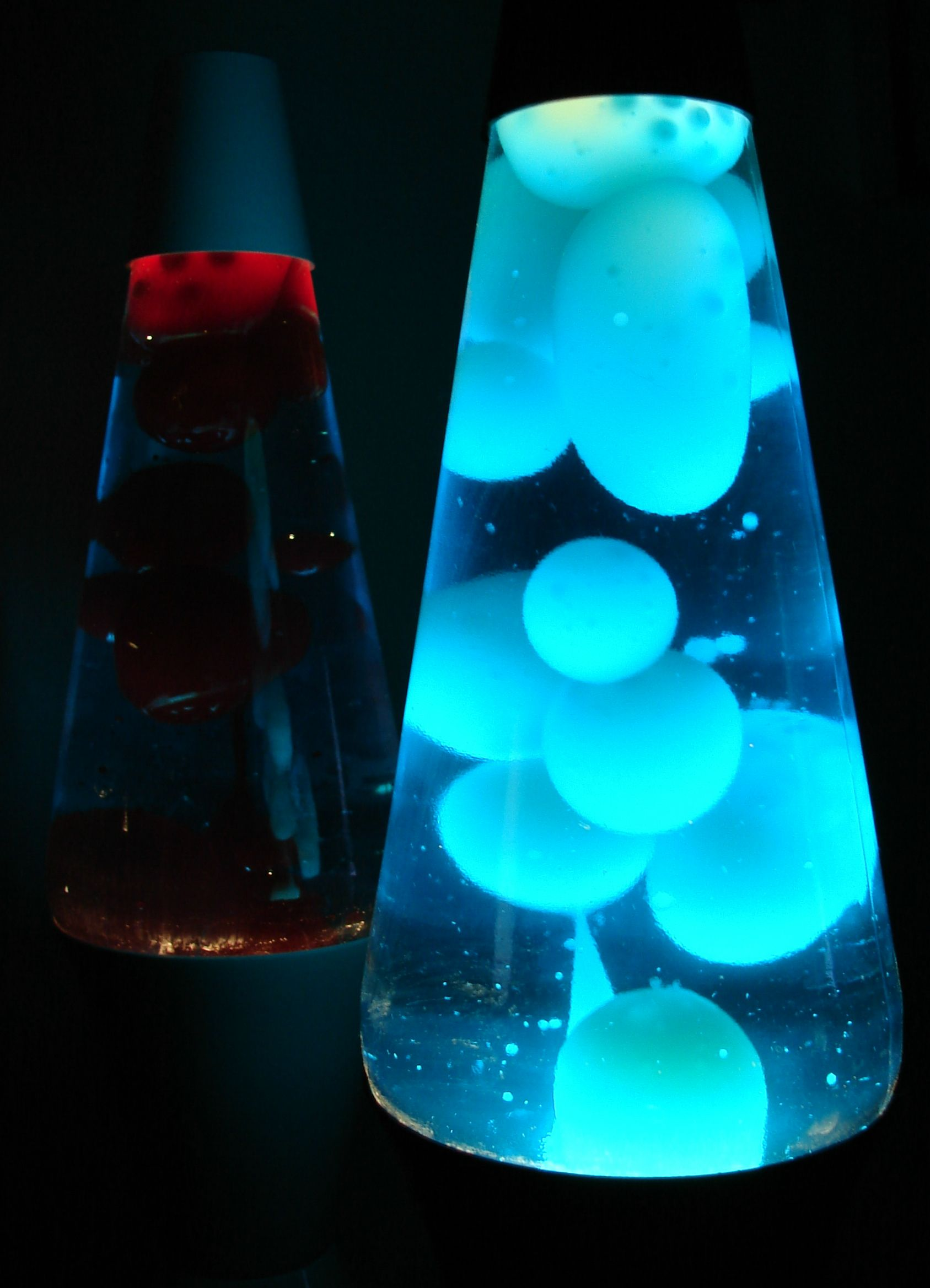 Wonderful Blue Lava Lamp Melted Wax 32
