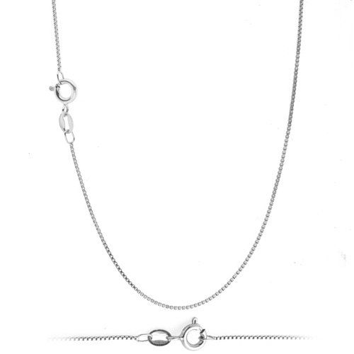 Solid 925 STERLING SILVER  Box Chain Necklace REAL SILVER Box Chain  ALL LENGHTS