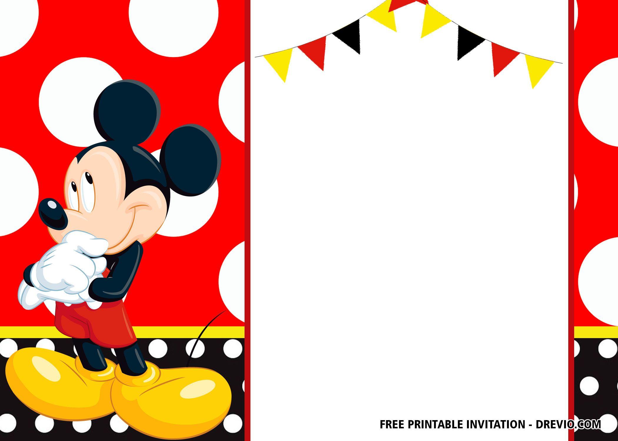 Free Mickey Mouse Birthday Invitation Templates Latest Mickey
