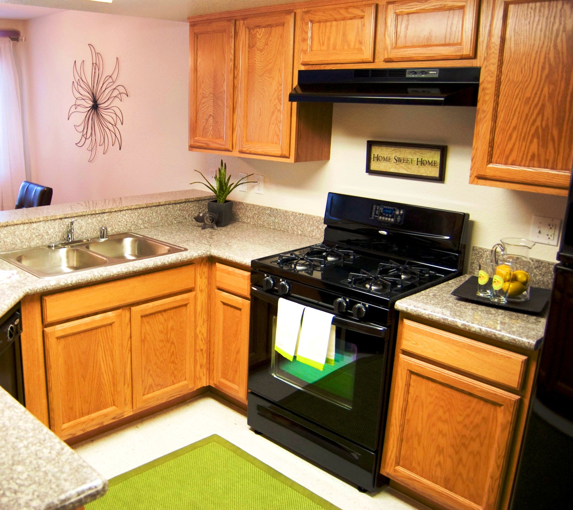 Beautiful, modern kitchen with a brand new gas stove top