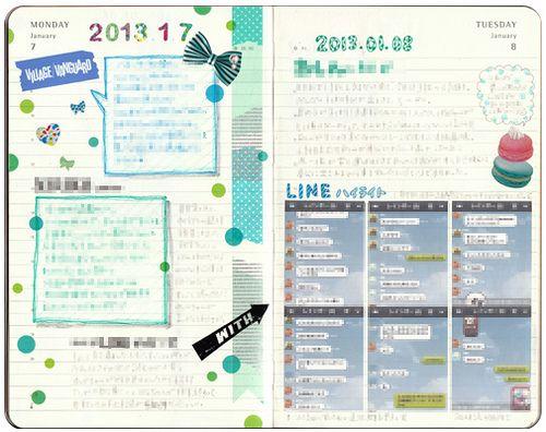 Moleskine Journal 2013.01.07 / 01.08