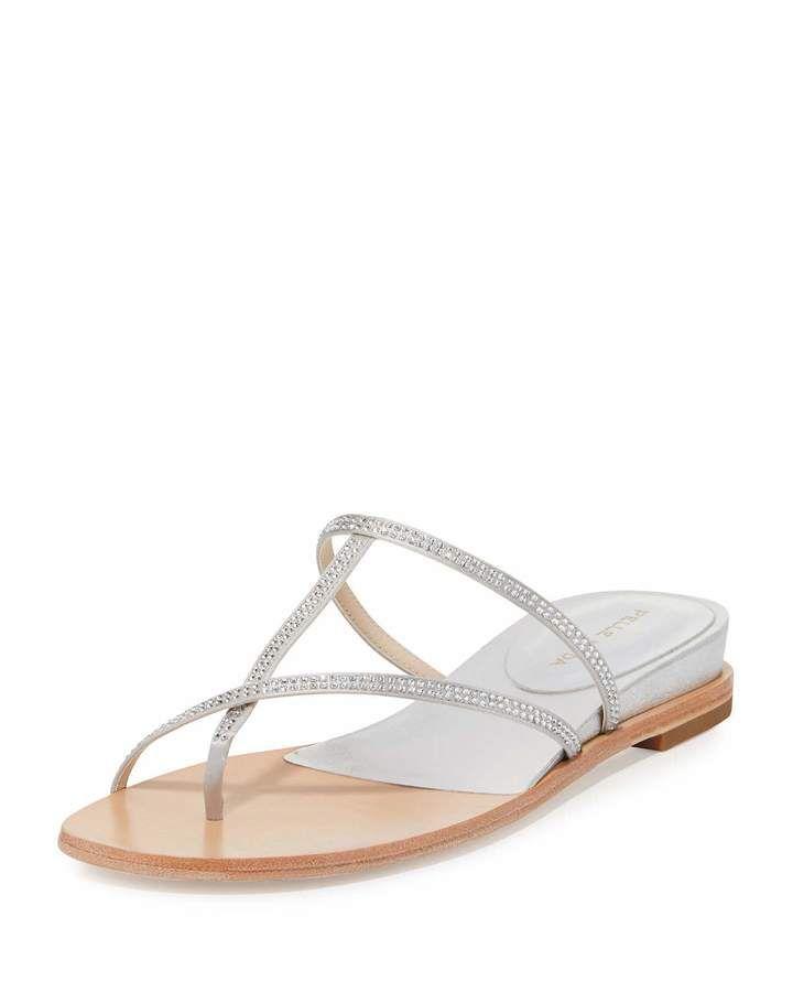 Pelle Moda Neka Embellished Flat Slide