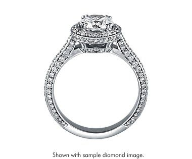 The total diamond carat weight of your ring is 1.99.  Ideal-cut, D-color, IF-clarity, Round, 1.33-carat Diamond. $26,478  Heirloom Halo Micropavé Diamond Engagement Ring in Platinum (5/8 ct. tw.).$3,550  Subtotal: $30,028