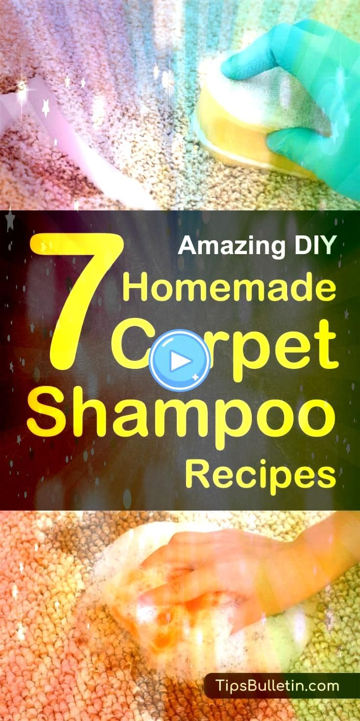DIY Homemade Carpet Shampoo Recipes  including DIY recipes of natural carpet cleaner for lightcolored carpet cleaning machine solution a homemade citrusenzyme cleaner a p...