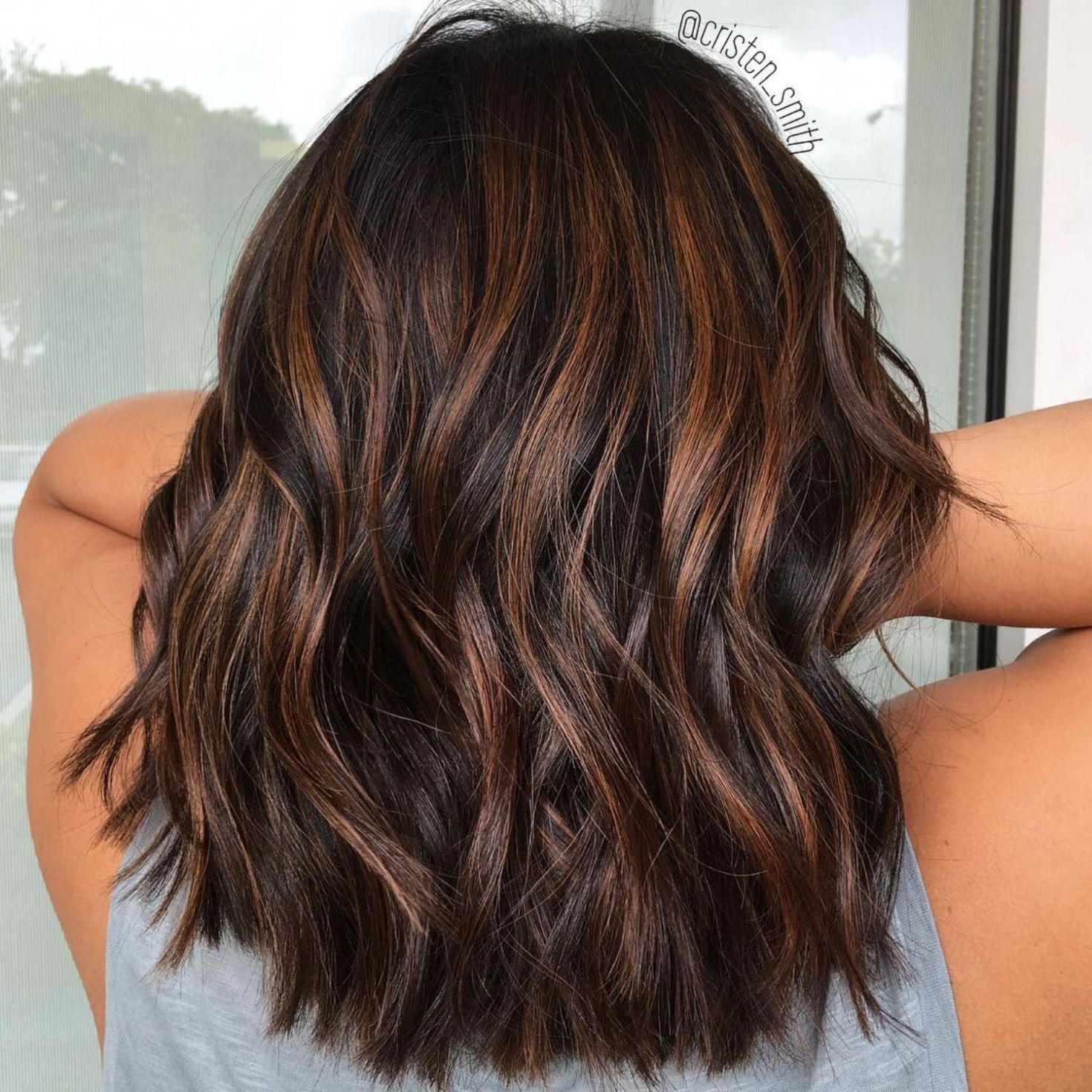 Rich Chocolate Hair With Copper Highlights Brown Hair Balayage Brown Ombre Hair Hair Styles