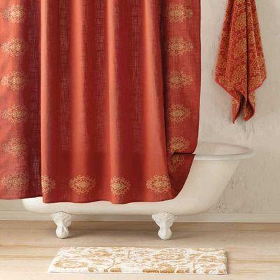 John Robshaw Textiles Cusa Shower Curtain Bath Beach New