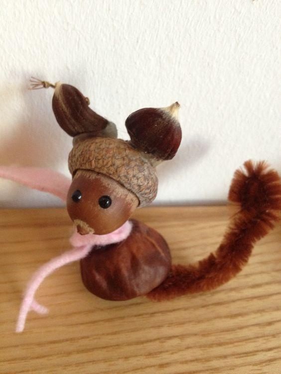 Kastanienmännchen und Co. - Herbstdeko basteln mit Kastanien und Nüssen #herbstdekobastelnnaturmaterialien