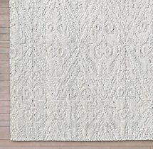 Floral Chevron Rug Swatch - White