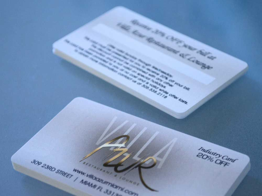 Plastic business cards and membership programs go together like ...
