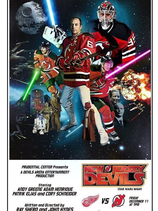brand new 32927 df782 New Jersey NJ Devils STAR WARS NIGHT Poster Schneider Elias ...