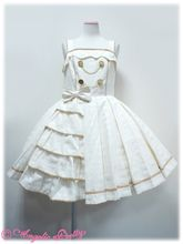 Melty Royal Chocolate Jumperskirt (M) in Ivory from Angelic Pretty