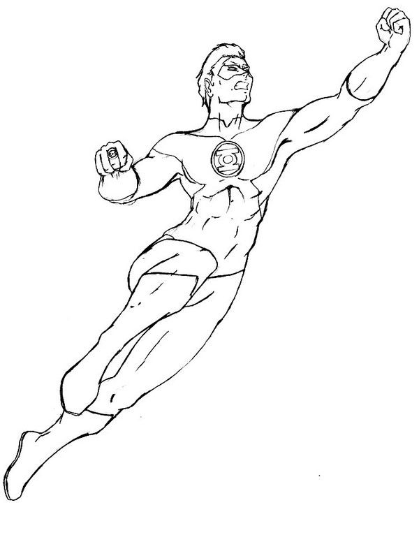 Green Lantern Coloring Pages 9