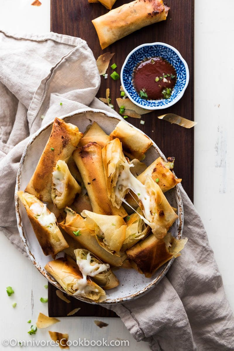 Cheesy shrimp baked spring rolls a addictive dim sum dish made cheesy shrimp baked spring rolls a addictive dim sum dish made easy this recipe forumfinder Image collections