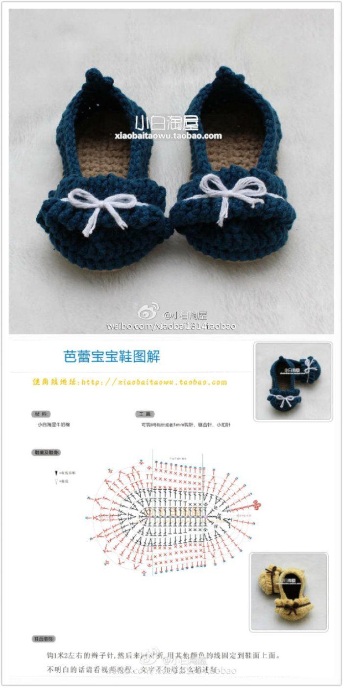 Pin de Kat Ortega en crochet | Pinterest | Zapatos tejidos, Zapatos ...