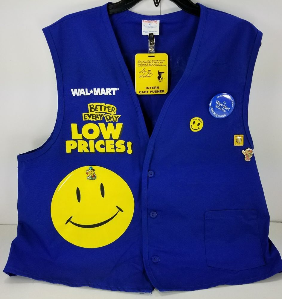 Walmart Employee Halloween Costume.Walmart Associate Employee Smock Vest Uniform Xl W Extras