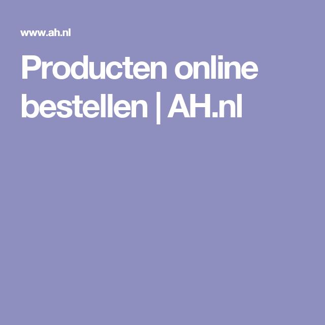 Producten online bestellen   AH.nl