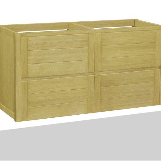 caisson meuble sous-vasque fjord chêne naturel l119xh61.5xp45cm, 4