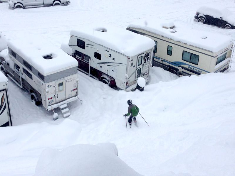 Hallmark Ski House Hits The Slopes Skiing Pickup Camper Camper