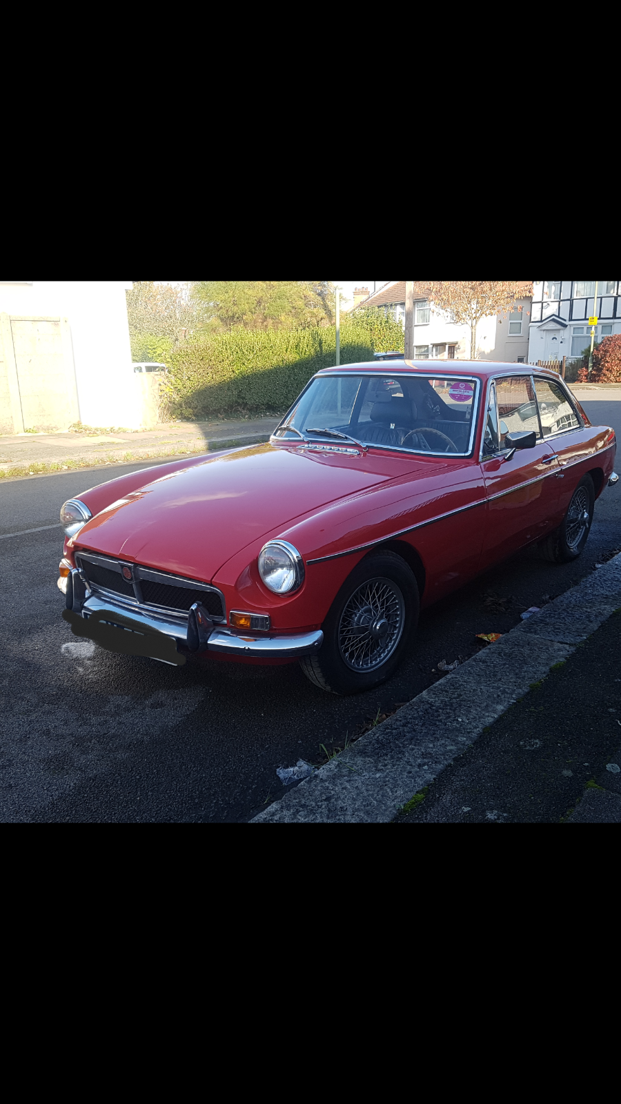 eBay LHD MGB GT /left hand drive perfect running project