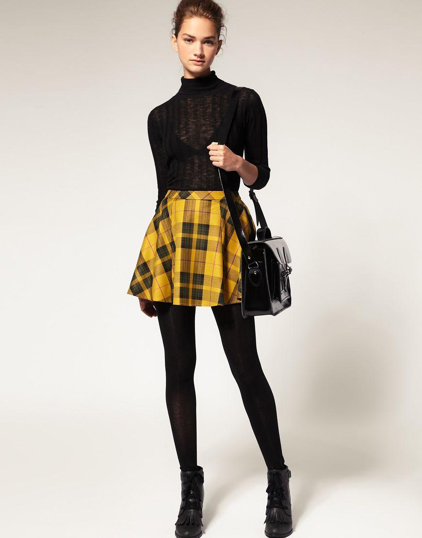 ASOS Plaid Skirt at asos.com