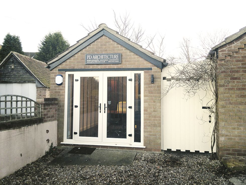 Garage conversion to a home office Garage guest house