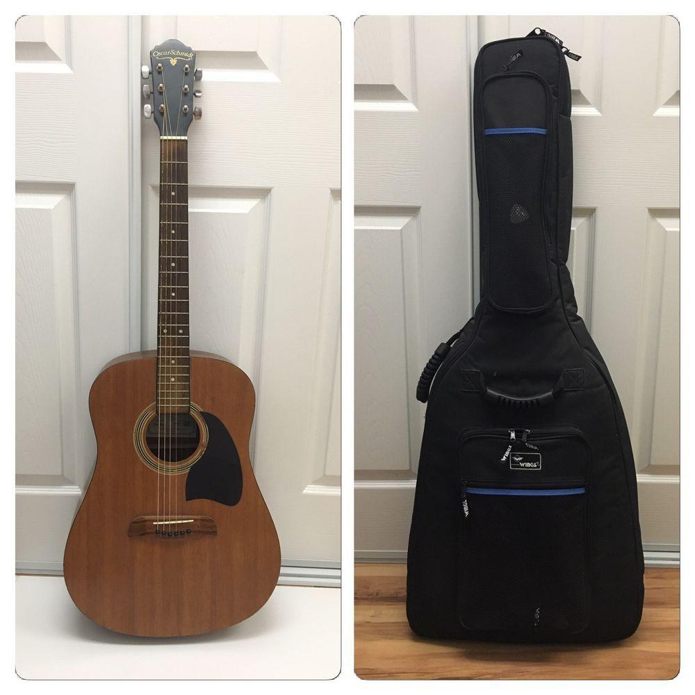 Used Oscar Schmidt Og 2m Acoustic Guitar Natural With Wings Case Acoustic Guitar Guitar Acoustic