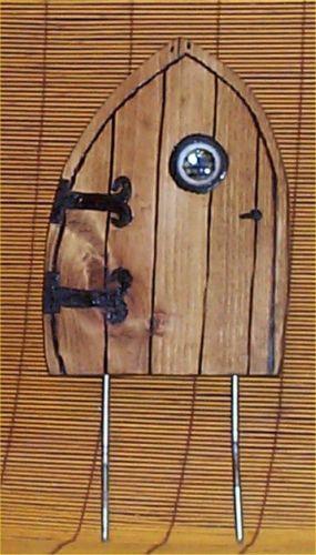 Fairy Door Wood Garden Decor Faries Yard Art portal new $19.99