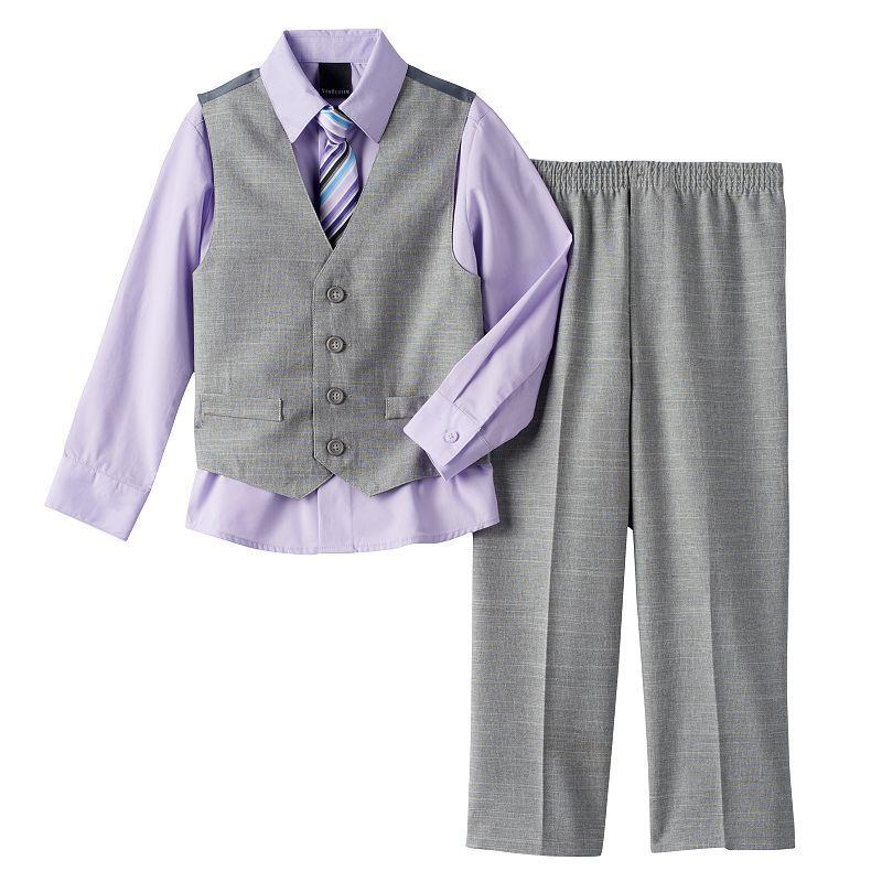 Boys 4-20 Chaps 4-Piece Vest Set, Lt Purple