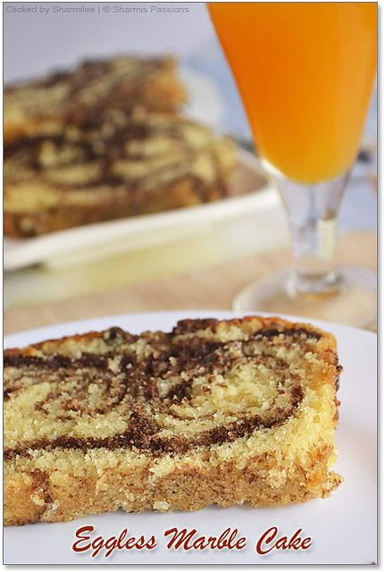 Eggless Marble Cake Step By Step Recipe Sharmis Passions Eggless Marble Cake Eggless Marble Cake Recipe Marble Cake Recipes