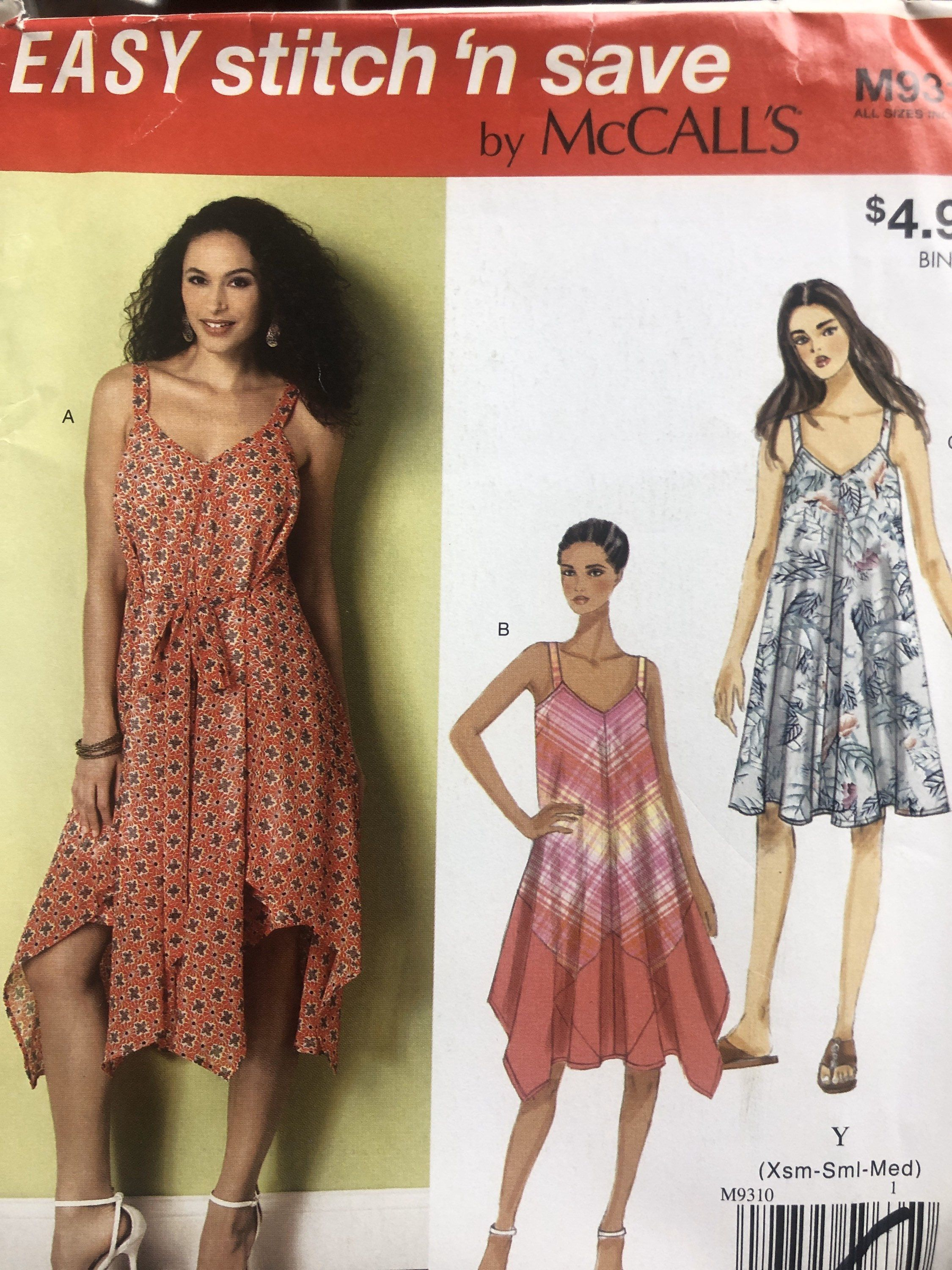 Misses Easy To Sew Dresses Sewing Pattern Summer Etsy Summer Dress Sewing Patterns Summer Dress Patterns Sewing Dresses [ 3000 x 2250 Pixel ]