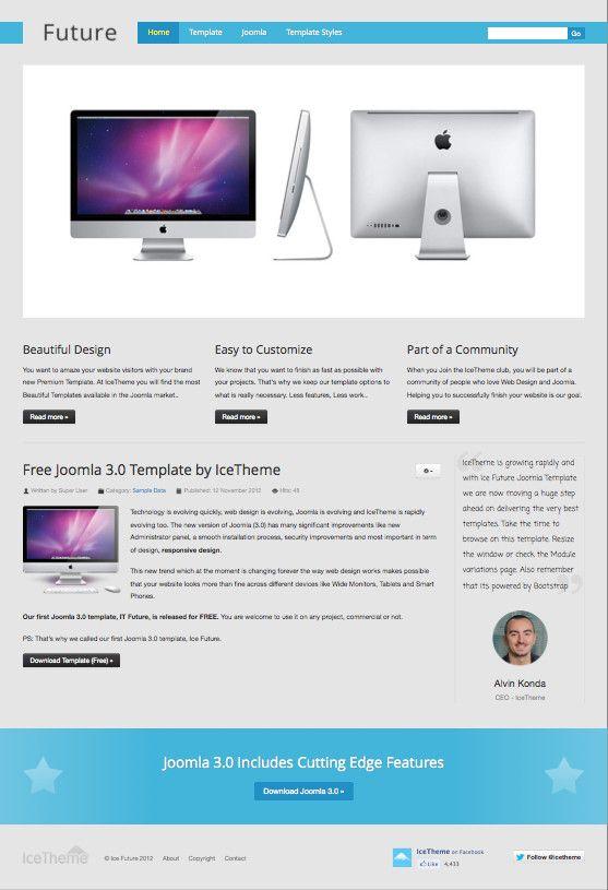 IT Future Free Joomla 3.0 Template   Premium Joomla Templates ...