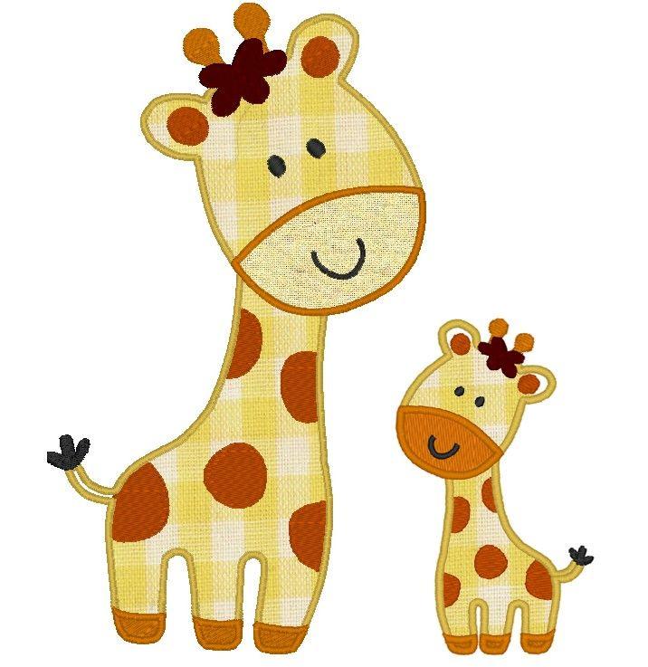 Wild Animal Giraffe Machine Embroidery Applique