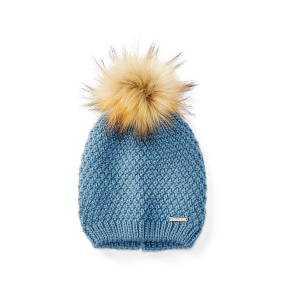 Ralph Lauren Lauren Faux-Fur Pom-Pom Hat ($42) ❤ liked on Polyvore featuring accessories, hats, pompom hat, ralph lauren hat, faux fur pom pom hat, ralph lauren and pom pom hat