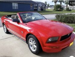 Red Convertible 2009 Mustang 4l V6 For Sale On Usedmustangsforsale Com In 2020 Ford Mustang 2009 Mustang 2006 Ford Mustang