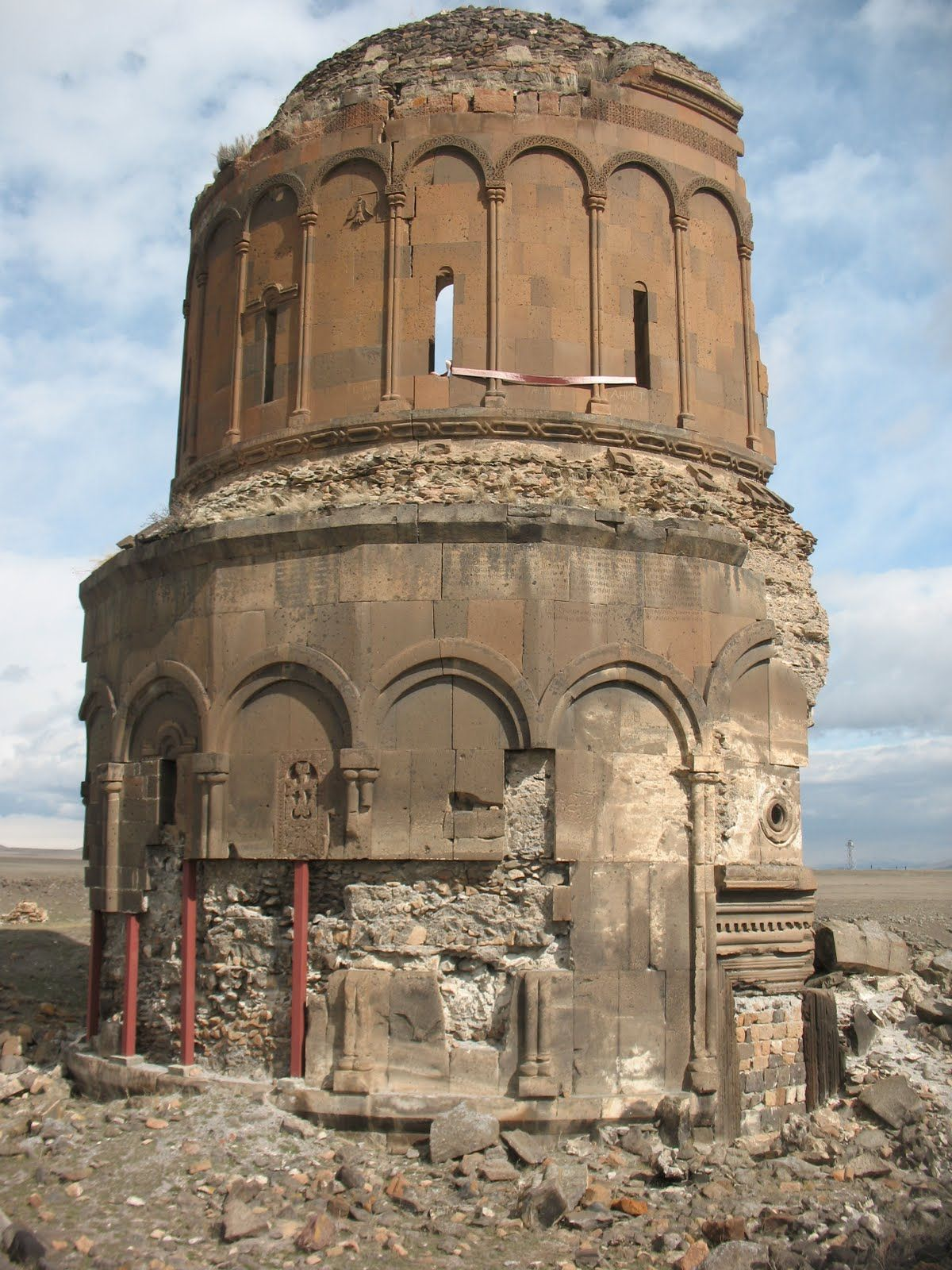the ruins and castle of Kars