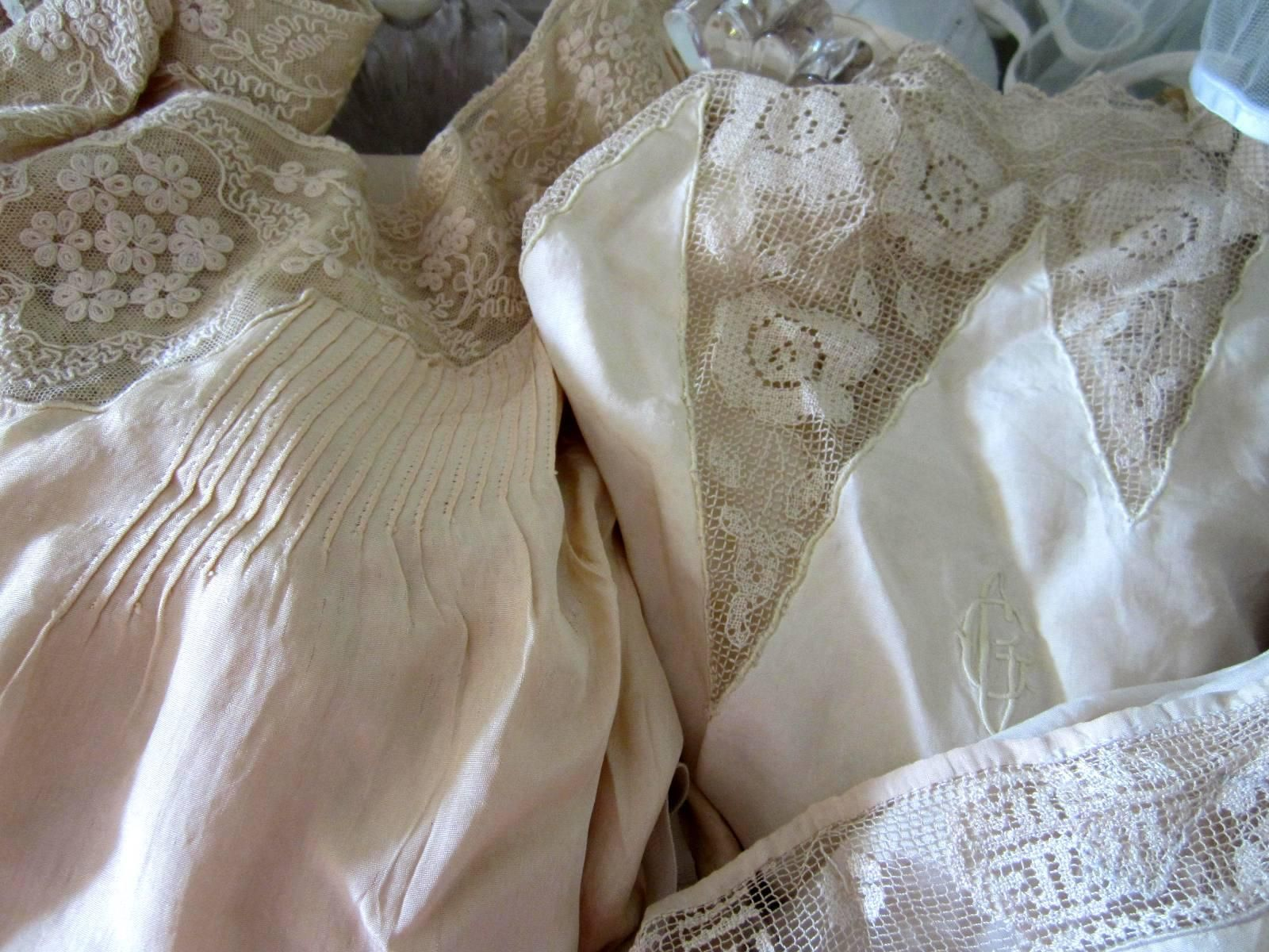 Antique silk lingerie from france vintage fashion before and