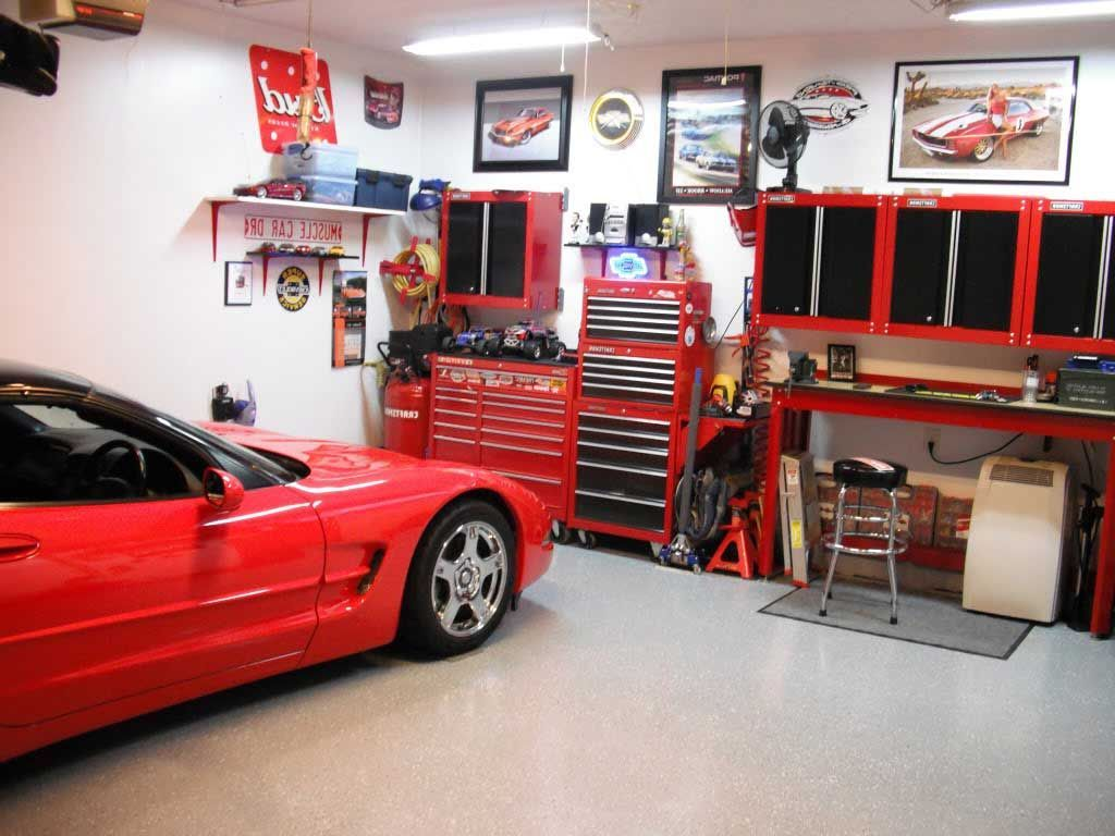 Interior , Unique Garage Design Ideas : Multifunctional Garage Idea For  Storing Tools And Home Office