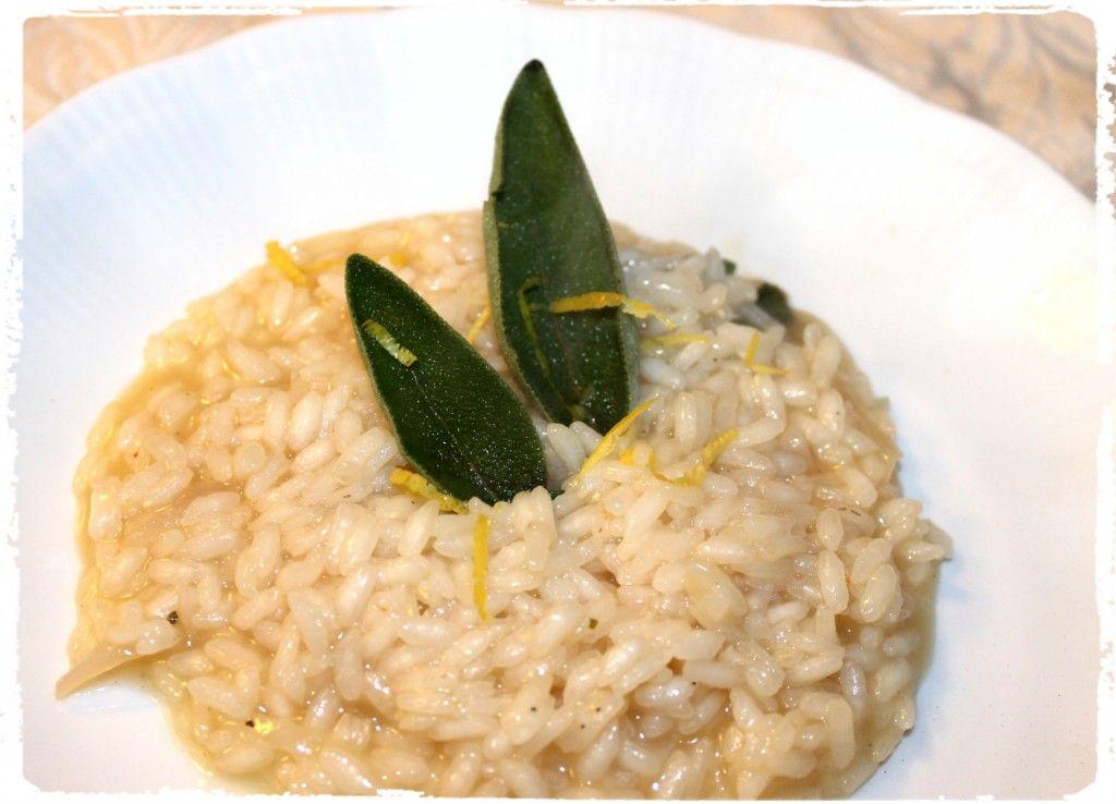 Risotto al limone e salvia cucina recetas e gastronomia for Cucinare vegano