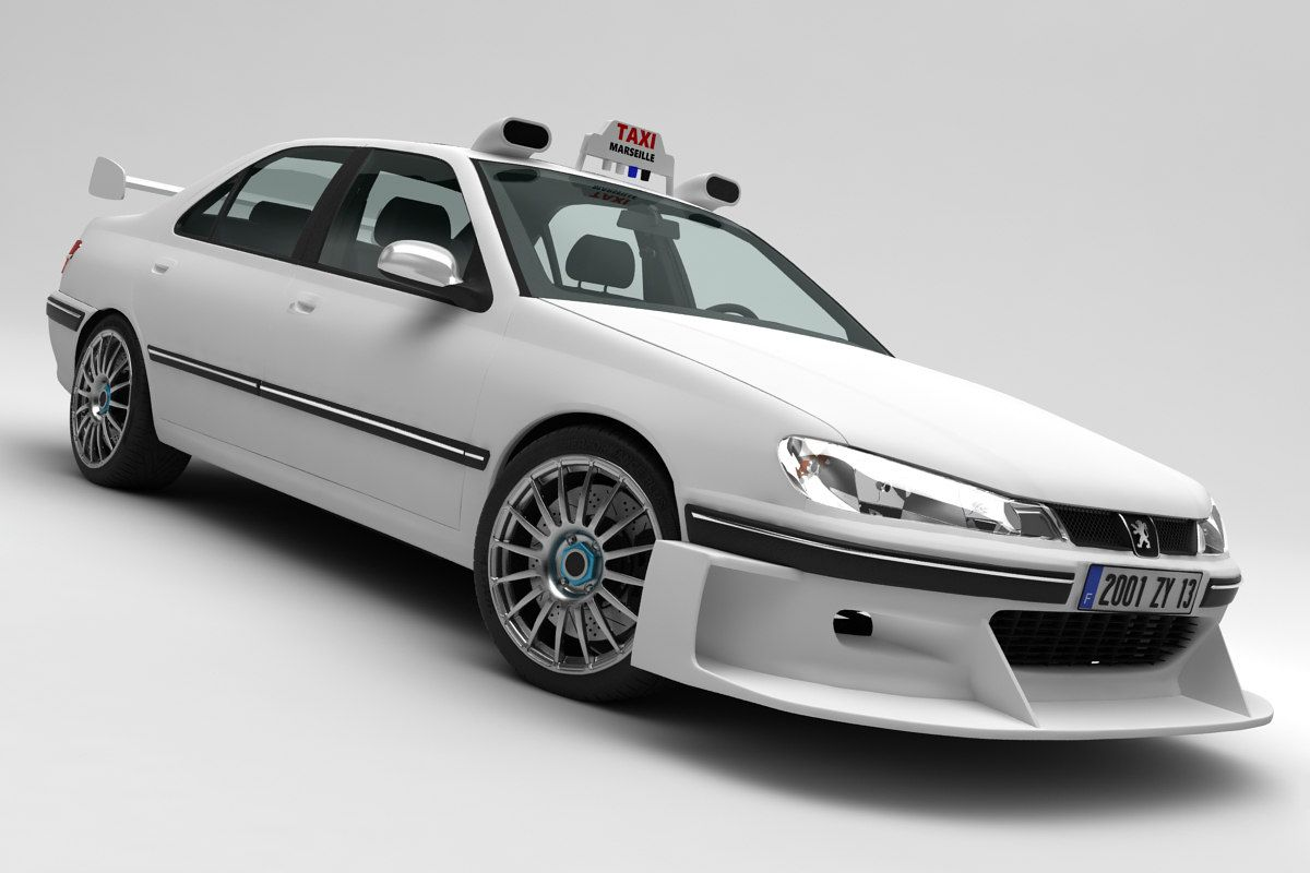 3d Peugeot 406 Taxi Peugeot Taxi Car Model