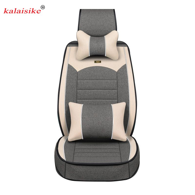 3 Row 8 Seaters Seat Covers Set For SUV VAN Set For 2 Tone Gray