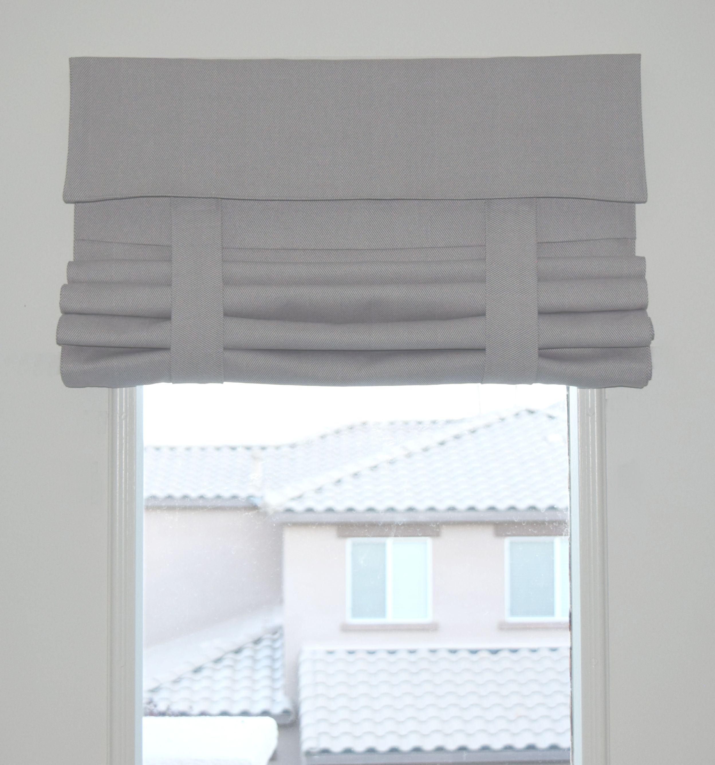 Gray Herringbone French Door Curtain